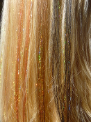 Dark Brown Natural Hair Tressies with Chromo Gold Tinsel